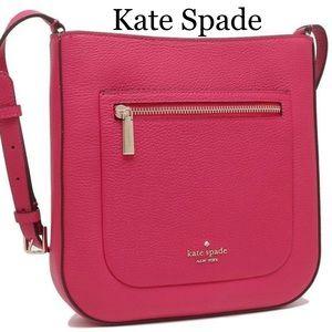 Kate Spade Leila Top Zip Crossbody Bright Rose  Bright Rose Color